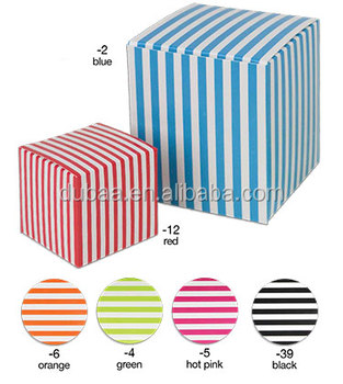 Color Striped 1 Piece Paper Boxes