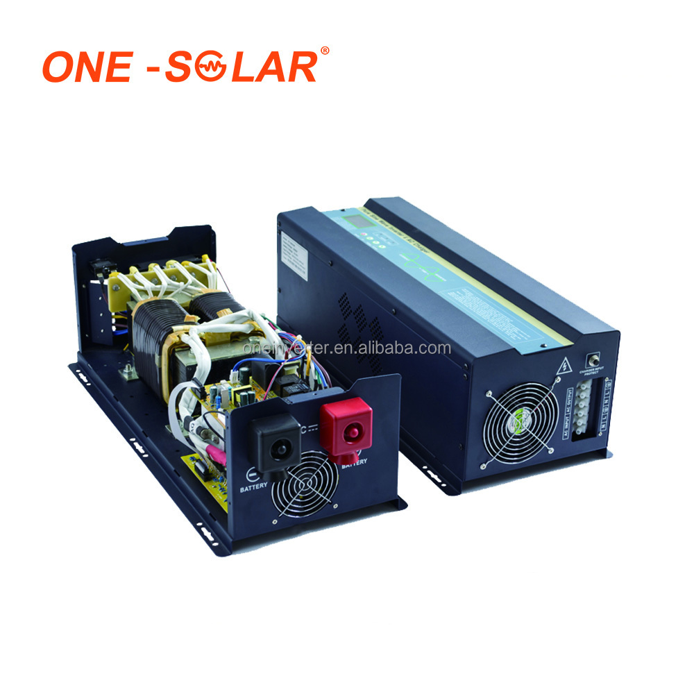 Top One 5000W 5KW 7KVA Single Phase Hybrid Solar Inverter with AC Charger