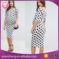 Dot design pregnant women maternity maxi dress
