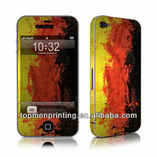 Mobile protector skins stickers full body carbon fiber skins for iphone 4