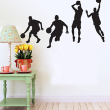 Basketball Player Dribbling Dunk Wall Decals Sticker For Boys Room Home Decorations Wall Decals