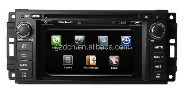 4.2 android car dvd radio 2GB DDR3 8GB capacitive screen dual core A9 3g wifi for Jeep Chrysler 300C Dodge WS-9133