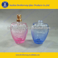 50ml oval shape perfume glass bottle with painted color