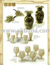 Marble Bunch Of Grapes & Galss Sets