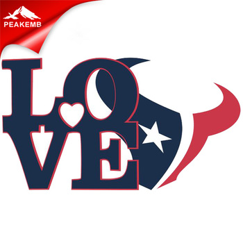 Personalized Love Texans  heat printing transfer vinyl