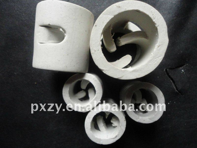 Ceramic Pall Ring tower packing