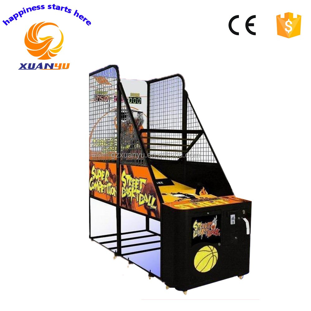 Xuanyu street hoops coin pusher basketball <strong>games</strong> indoor sports lottery redemption basketball arcade <strong>game</strong> machine for sale