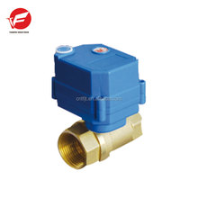 CWX-25S electric water brass ball control valve with manual override function 1/2'' DC12v CR02 three wires for water leakage
