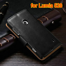 Factory price leather shell case cover for nokia lumia 520