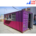 Convenient Fast Construction Container Snack Bar Prefabricated House