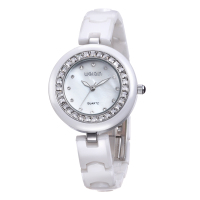 2015 Women Fashion&Causal Wristwatch Luxury Ceramic Band Rhinestone WEIQIN Watch Top Brand Women Party Watch Water Resistant