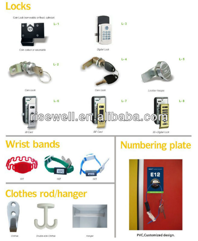 School electronic key HPL locker