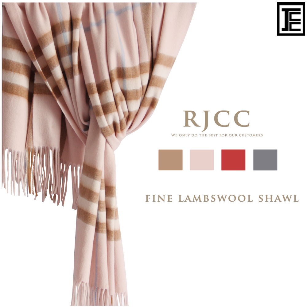 RJCC SMALL CHECK 100% Lambswool Shawl <strong>Scarf</strong> with Tassel Trimmed Ends from Inner Mongolia China Factory for both Men and Women