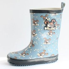 Kids blue dog and cheap rain boots