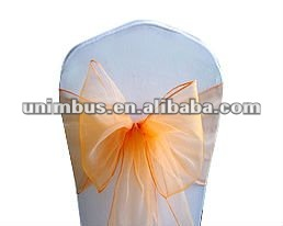 organza sashes chair cover bows wedding/party sash