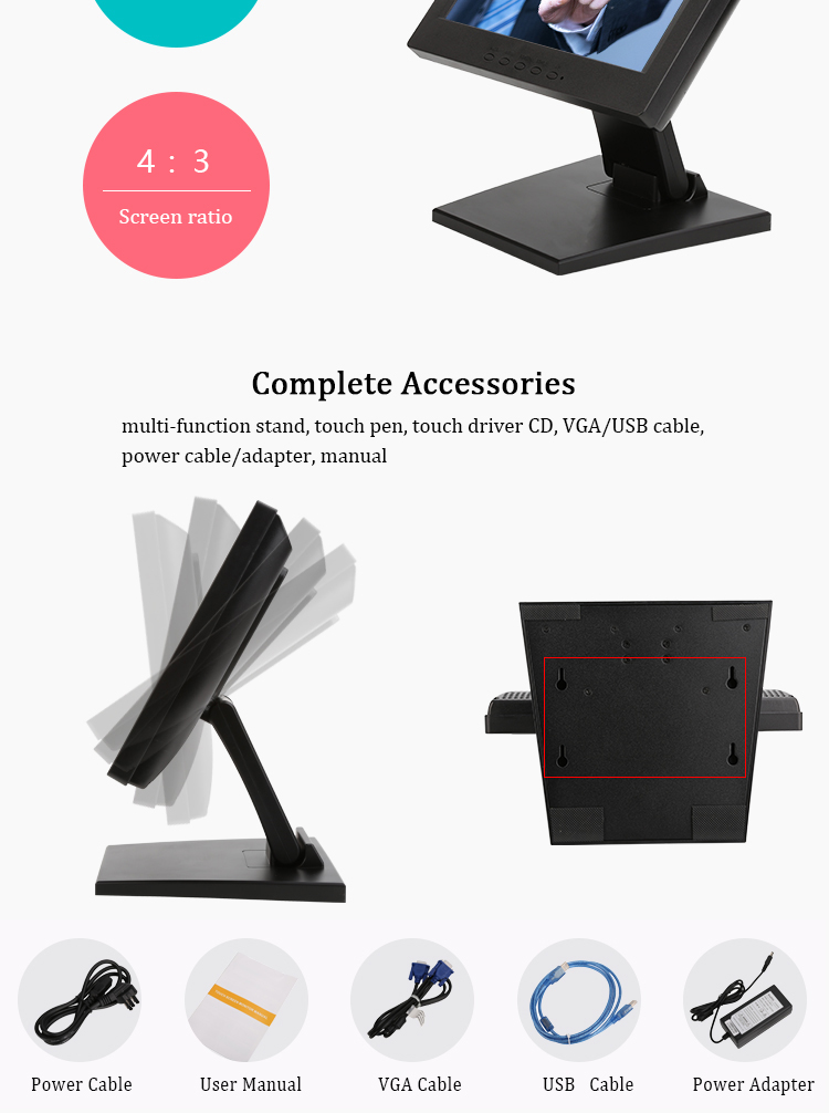 touch screen monitors  touchscreen for POS order all in one pc