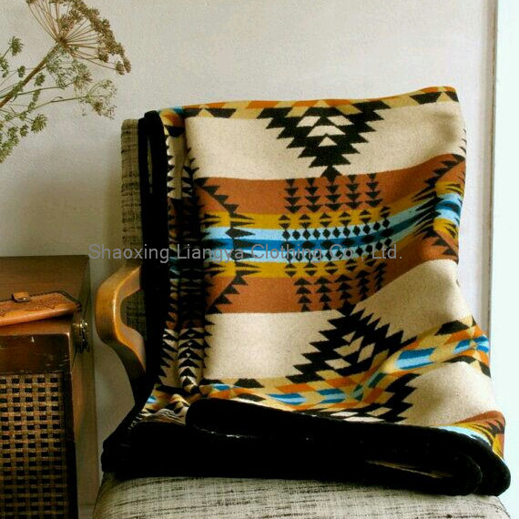 wool blanket native american four directions design classic multicolor gold black the bright throw cozy blanket