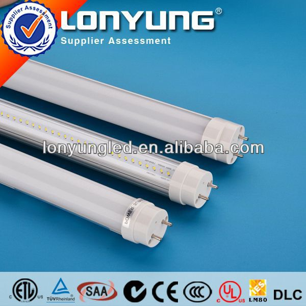 DLC compatible -ballast led tube 100 volt led t8 tube not need rewire direct replacement