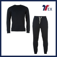 2016 Fujian Xiamen wholesale new design track suit/cheap plain sweat suits body fitness wear man sportswear