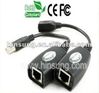 M/F USB repeater to Ethernet RJ45 LAN Cable converter AD2015