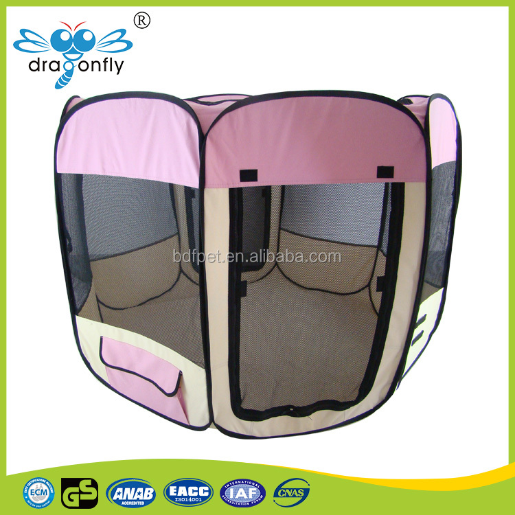 Foldable Pet Playpen 8 Panels Exercise Puppy Dog fabric bed pet Tent