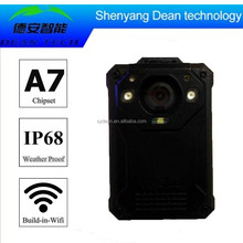 Police Body Worn Video Camera and Recorder with Wifi Live Stream on Mobile Phone