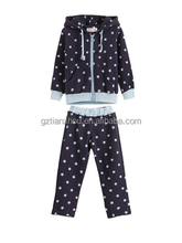 2017 China Wholesale Fashion Stars Long Sleeve Hooded Coat Girls Pants Suit