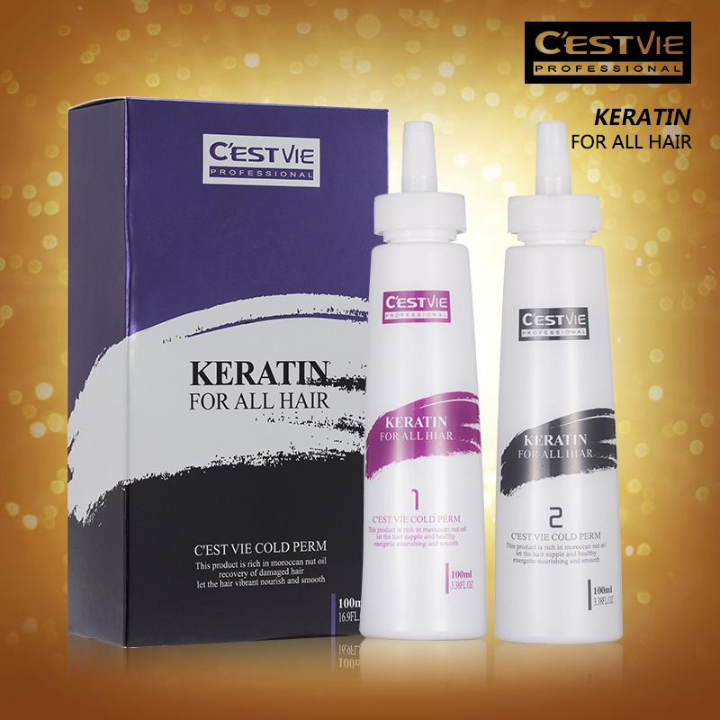 CESTVIE Keratin Cold Curling Perm Cream for Salon Use