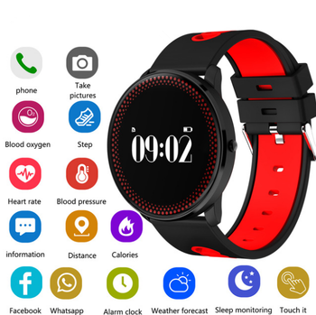 CF007 Waterppoorf Smart Bracelet With Heart Rate Blood Pressure Oxygen Monitor Fitness Heart bracelet Wristband