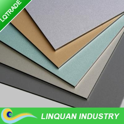 outdoor using Double sides painting aluminum composite panel