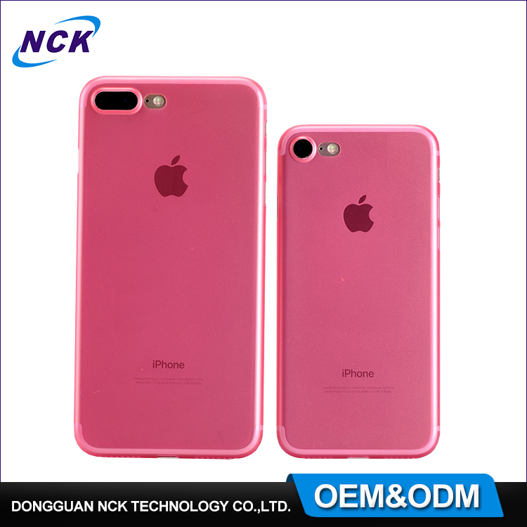 MOQ=100pcs free sample frosted effects ultra thin 0.4mm colored pp phone protective cover for iphone 7 7plus