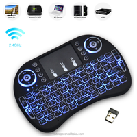 2017 New Promotion 3 Color Mini i8 Backlight Gaming Keyboard 2.4G Wireless Air Mouse Keyboard for Android Tv Box BX0202