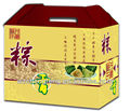 High quality corrugated carton food paper box with die cut hanger
