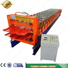 plc automatic cheapest trustworthy high quality d metal roof shingles double sheet profile layer roll forming machine