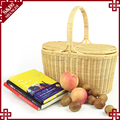 High quality custom portable empty picnic food basket cheap handmade wicker large picnic basket for 4 - 6 persons