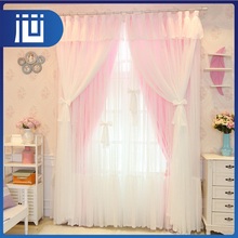 New arrival OEM accept bulk household knit lace curtain for bedroom