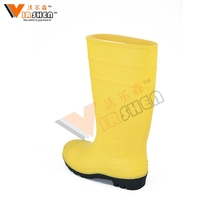 hot selling safety pvc yellow working gumboots with steel toe and plate,garden water boots