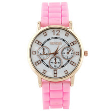 women sport watch classic quartz diamond watches silicone sport watch