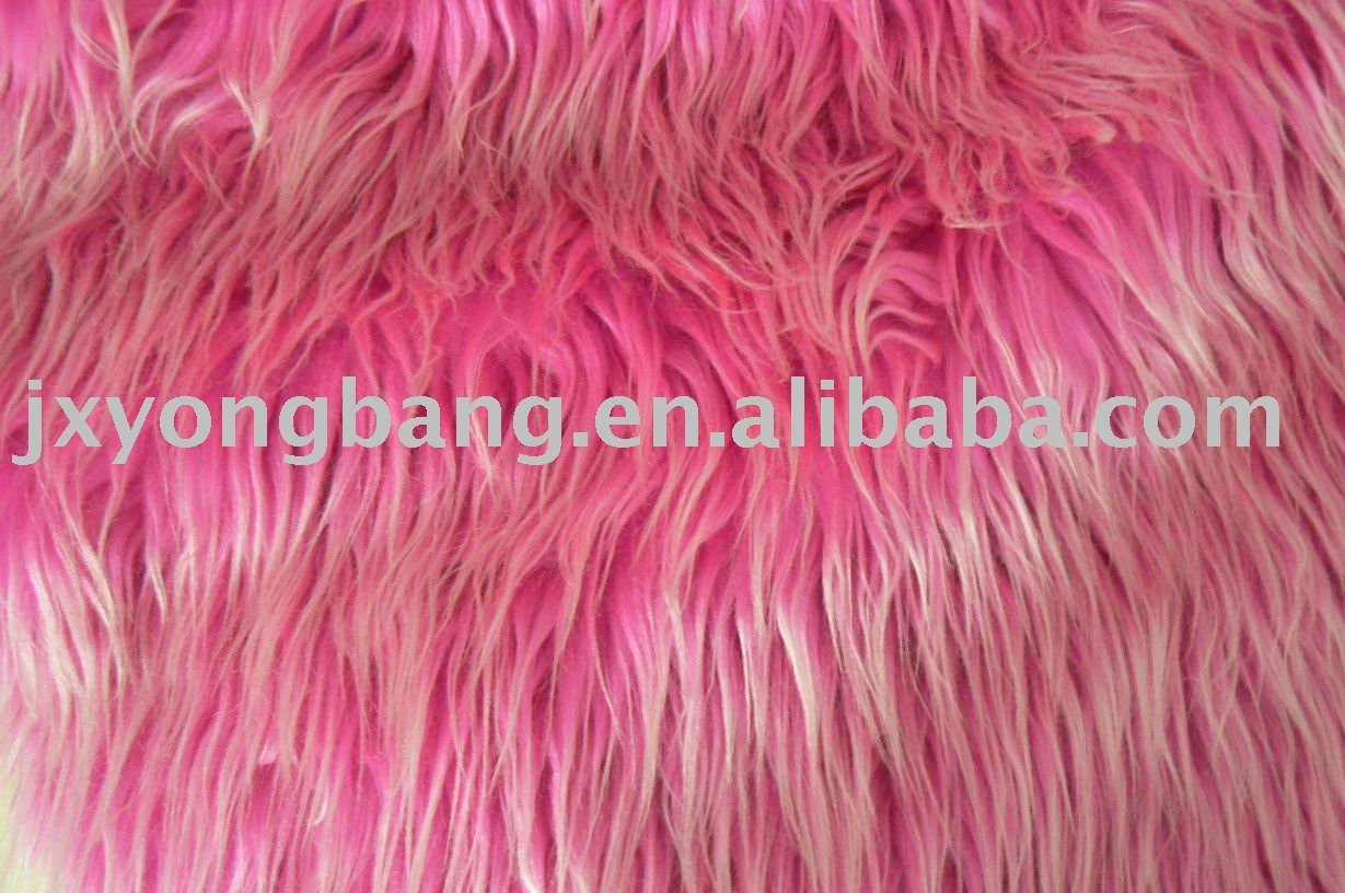 New Products Long/High Pile Knitted Plush Faux Fur Fabric