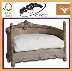 wood dog cat bed pet bed & accessories