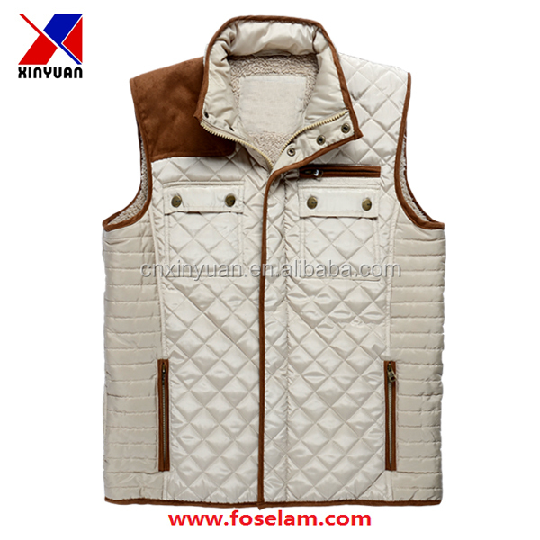 Outdoor Men's Fishing Down Vest Customized Plus size 3XL