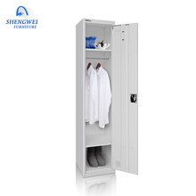 Modern style hanging clothes one door steel locker colorful metal material wardrobe cabinet for sale