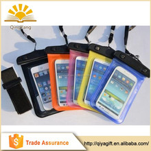 Promotional wholesale multifunctional neck hanging pvc waterproof cell phone bag