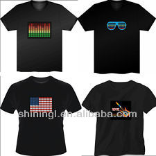 el sensible t shirts,luminous t shirt,light tshirts