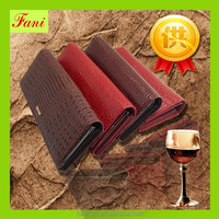 Luxury style and hot selling leather purses for young ladies / women
