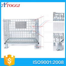 portable warehouse metal pallet storage cage container