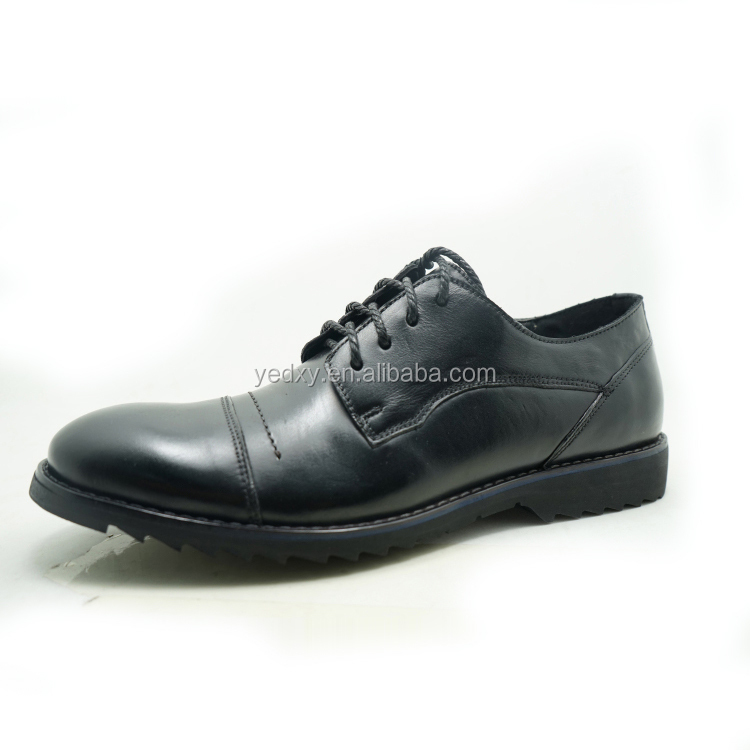 black cap toe derby china leather casual shoes export