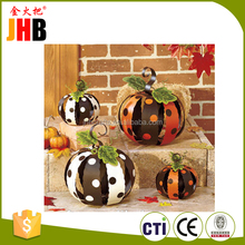 Metal garden decoration Polka Dot Pumpkins