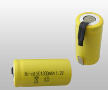 High temperature nicd rechargeable battery 1.2v SC 1300mah