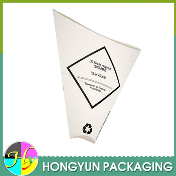 Cheap custom printing cardboard crepes food packaging
